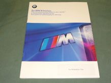 "BMW ""The BMW M Brochure - The Most Powerful Letter In The World"" 1999 40 pages"